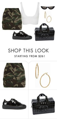 """""""Untitled #43"""" by nelaantonella ❤ liked on Polyvore featuring Yves Saint Laurent, Bony Levy, Axel Arigato, Chanel and Cushnie Et Ochs"""