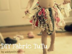 Scrap fabric tutu - I think even I can make this one.