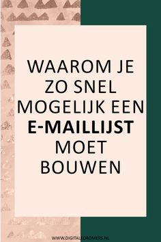 Twijfel je of je een e-maillijst moet beginnen? In dit artikel vertel ik waarom elke blogger en ondernemer een e-maillijst nodig heeft en waarom je daar zo snel mogelijk mee moet beginnen.
