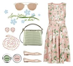 """Welcome Spring! 🌸🌺🌷"" by valelondon ❤ liked on Polyvore featuring Hobbs, Valentino, VBH, Taylor Morris, Chanel, NYX and Monica Vinader"