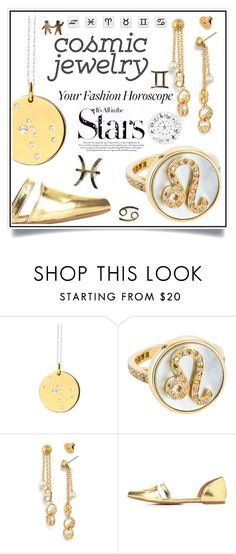 """What's Your Sign: Cosmic Jewelry"" by ewa-naukowicz-wojcik ❤ liked on Polyvore featuring Catherine Zoraida, Carolina Bucci, Tory Burch, Charlotte Russe, Karl Lagerfeld and cosmicjewelry"