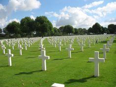 Netherlands American Cemetery.  Near Maastricht, the Netherlands.