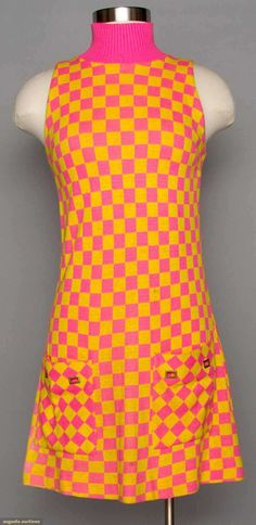 Two Knit Mini-dresses, 1960s, Augusta Auctions, MAY 13th & 14th, 2014, Lot 124