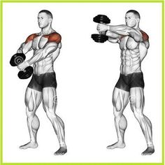 Dumbbell front raise #fitnessroutines