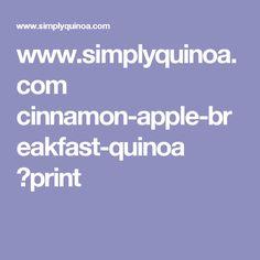 www.simplyquinoa.com cinnamon-apple-breakfast-quinoa ?print