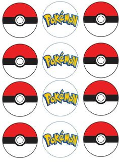 Pokemon Edible Image Cupcake Toppers by ShoreCakeSupply on Etsy