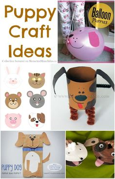 Puppy Crafts - A Collection Of Fun Ideas - Moms & Munchkins