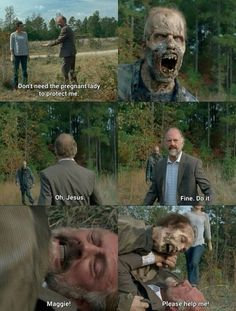 """Gregory reaching new levels of uselessness. The Walking Dead S07 E15 """"Something They Need."""" Season 7 Episode 15. #twd"""