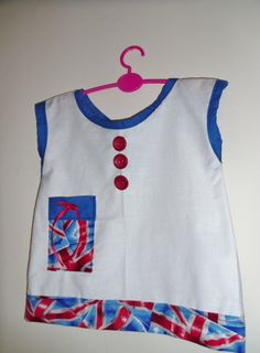 A Little Tunic Top for the Jubilee would look cute with blue leggings and little red sandals available at Ellie,s Purl Jam on facebook