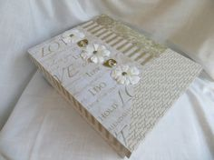 Cream and Gold Wedding Memory or Keepsake by MyMemoryBoxes on Etsy, $56.00