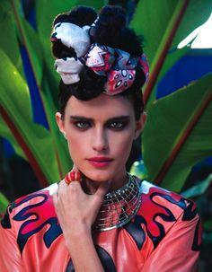 R & I / 'Pasion por Frida', Vogue Mexico / Photos: Michael Filonow, stylist: Lauri Eisenberg, hairstyle and makeup: Gianluca Mandelli