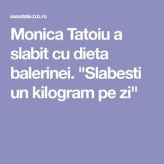 "Monica Tatoiu a slabit cu dieta balerinei. ""Slabesti un kilogram pe zi"" - BZI. Under Pressure, Medical, Student, Country, Tattoos, Tatuajes, Rural Area, Medicine, Tattoo"