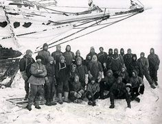 Shackleton, the crew of 'Endurance', Antarctica: Frank Hurley c1912-15