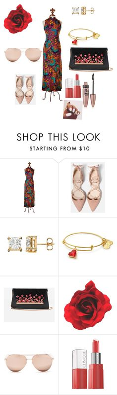 """""""Chor 1"""" by kkellyyapp ❤ liked on Polyvore featuring White House Black Market, Linda Farrow, Clinique and Maybelline"""