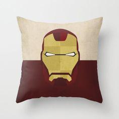 "Marvel Comic Store Superheroes Minimalist ""Iron Man"" Pillow Cover - 20"" $42.00"