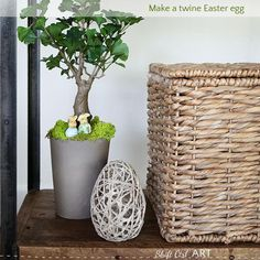 DIY How to: make a twine Easter egg