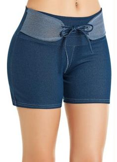 Short Cotton Jeans em Cotton - Posthaus