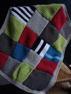 au coeur d'artycho.  Crochet squares blanket