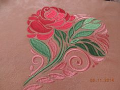 Rose heart free embroidery design - Flowers free machine embroidery designs - Machine embroidery community