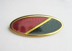 YSL enamel and resin long  Brooch 1980s red by popgoesmyvintage, $115.00
