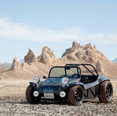 Beach Buggy...reminds me of one of the first off-road vehicles I ever road in. Except Dad made ours with an empty beer keg for a gas tank, and there was a back seat where me and Marky had seat belts. Fun times!