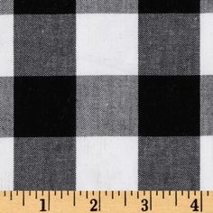 Kaufman 1'' Carolina Gingham Black/White from @fabricdotcom  From Kaufman, this woven yarn dyed gingham fabric is great for blouses, dresses, skirts and children's apparel. It can also be used for quilting projects. Checks measure 1'' and the horizontal and vertical plaid repeat is 2''. Colors include white and black.