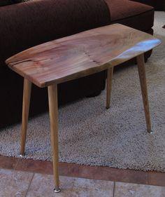Mid Century Modern Live Edge Slab Side Table. $189.00, via Etsy.