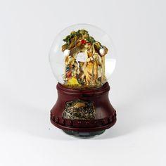 Natal / Globos de neve - Sagrada Família em Globo de Neve - Bau da Cravus