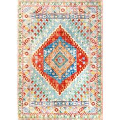 World Menagerie Fontayne Orange Area Rug