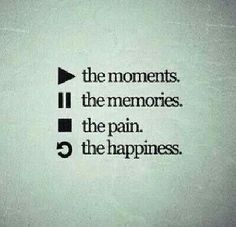PLAY the moments... PAUSE the memories... STOP the pain... & Refresh/Reload the happiness.♡