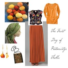 """The Feast Day of the Holy Protomartyr Thecla"" by offbeatmodestdress on Polyvore"