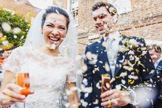 Happy confetti shot at Burgh House in Hampstead.
