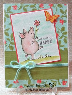 handmade card using This Little Piggy stamp set by Stampin' Up!