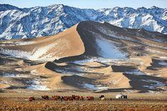 The life of a nomadic family in the Gobi Desert  http://twitter.com/MrTimothyAllen — in Mongolia.
