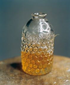 Beautiful Hand-blown Honey jar