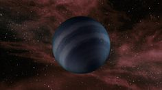 An artist's conception of a free-floating brown dwarf, or failed star.