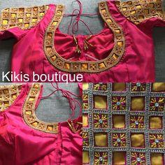 Pattu Saree Blouse Designs, Blouse Designs Silk, Bridal Blouse Designs, Cut Work Blouse, Stone Work Blouse, Magam Work Designs, Blouse Models, Cutwork, Sarees