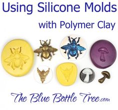 Learn how to use silicone molds with polymer clay. Learn how to make a faux cameo in this series of articles at The Blue Bottle Tree