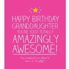 Granddaughter Birthday Card - Happy Jackson - Amazing Granddaughter