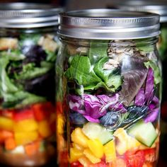 Lose Weight With These Mason-Jar Salads: Have you hopped on the #saladinajar craze yet?