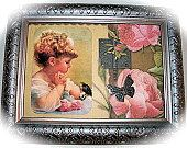 Vintage Victorian Little Girl Bird by AFwofMyFavriteThings on Etsy