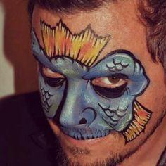 Sea monster face paint
