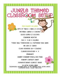 Jungle Themed Classroom Set- Everything you need to complete your jungle themed classroom. So worth the $$$!