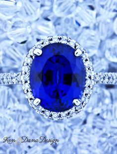 Blue Sapphire Engagement Ring by Ken & Dana Design called Camilla.