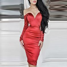 Sexy Strapless Long Sleeve Solid Color Dress For Women blue redSexy Strapless Long Sleeve Solid Color Dress For Women blue red Cheap Club Dresses, Sexy Dresses, Beautiful Dresses, Fashion Dresses, Sleeve Dresses, Gorgeous Dress, Party Dresses, Buy Dress, Dress Up