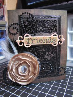 cards made with Tim Holtz Book Covers stamp - Google Search