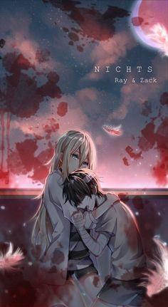 Angel of Slaughter 殺戮の天使 (Massacre Angel) (Satsuriku no Tenshi) 君が笑うまで Angels of Death Fanart Ray (Rachel Gardner) and Zack (Isaac) Anime Angel, Ange Anime, Anime Couple Love, Anime Love, Manga Couple, Cosplay Anime, Angel Of Death, Anime Couples Manga, Cute Anime Couples