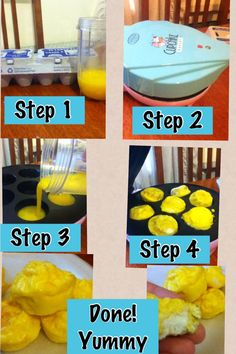 eggs in a cupcake maker! Step by step how to make scrambled eggs in a mini cupcake maker! They are a very tasty fun breakfast!