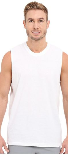 adidas Athletic Comfort 3-Pack Muscle Tee (White/White/White) Men's Sleeveless - adidas, Athletic Comfort 3-Pack Muscle Tee, 5138442, Apparel Top Sleeveless, Sleeveless, Top, Apparel, Clothes Clothing, Gift, - Fashion Ideas To Inspire