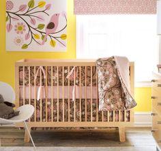 Adorable baby girl's room decor